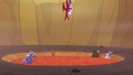 Garble and Starlight dive toward lava pool S7E1.png