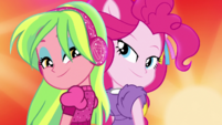 Lemon Zest and Pinkie Pie back to back EGS1