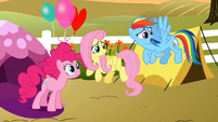 Pinkie Pie, Fluttershy and Rainbow Dash S2E15