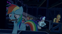 Rainbow, AJ, and Rarity secure the barn S6E15