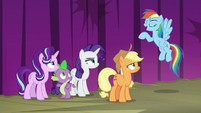 Rainbow Dash very proud of herself S8E7