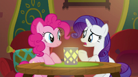 "Rarity ""are we sure they're open?"" S6E12"