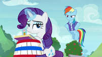 Rarity barely paying attention to buckball S8E17