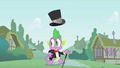 Spike distracted by Pinkie S1E15.png