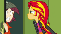 Sunset Shimmer scares boy in locker EG