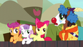 Apple Bloom tells Trouble Shoes to join in S5E6.png