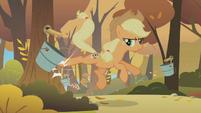 Applejack kicking S01E13