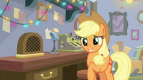 Applejack looking bashful BGES3