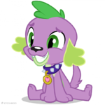 Equestria Girls Spike the Dog artwork