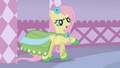 Fluttershy commenting about her dress S1E14.png