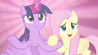 "Fluttershy declares again ""for our friends!"" S9E2"
