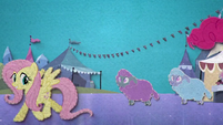 Fluttershy frolicking with tiny crystal ewes BFHHS5