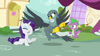 Gabby accidentally knocks Rarity over S9E19
