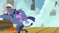 Iron Will carries Twilight Sparkle off-screen S7E22.png