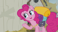 Pinkie -so we can ask the king what's going on- S5E8