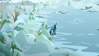Queen Chrysalis crossing a field of ice S9E8