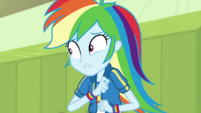 Rainbow Dash thinking quickly EGDS4