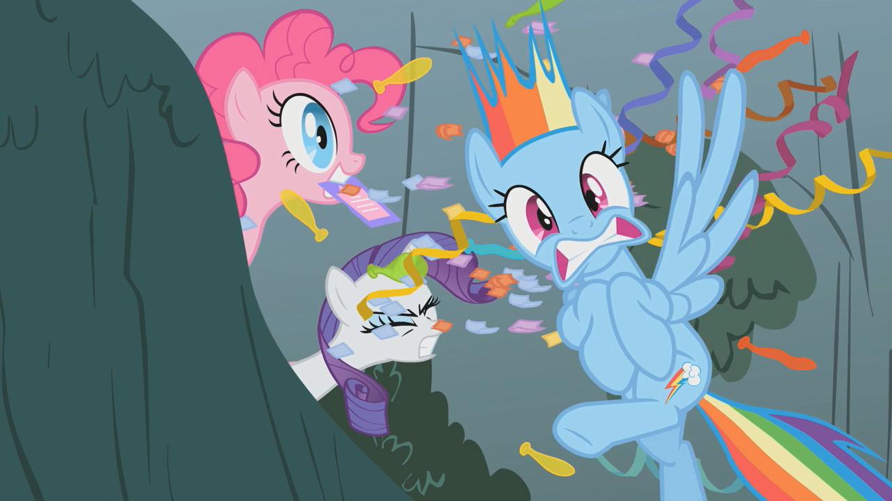 Image Rainbow Dash Victim Of Pinkie Pie S01e07 Png My