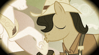 Smith's father kisses Celestia's hoof S2E12
