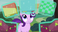 Starlight Glimmer holds three puzzles S8E19