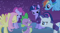The ponies admire Spike S1E24