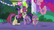 Twilight and Moon Dancer hugging S5E12