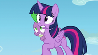 Twilight and Spike hears Starlight S5E26
