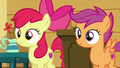 Apple Bloom and Scootaloo hear Sweetie Belle S6E4.png