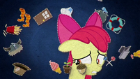 Apple Bloom surrounded by cutie marks BFHHS4