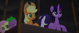 """Applejack """"quick thinkin', Twilight!"""" MLPTM"""