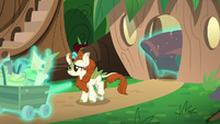 Autumn Blaze leaving her home S8E23