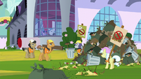 Canterlot street sweepers on strike S9E13