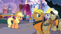 Construction ponies groan with exhaustion S7E9