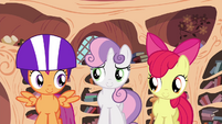 Cutie Mark Crusaders about to leave library S4E15