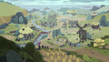 Distance view of Stygian's village S7E26.png
