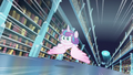 Flurry Heart flying through the library S6E2.png