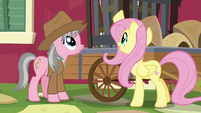 Fluttershy pointing at the cages S7E5