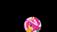 Iris out on Pinkie Pie's flamingo floatie EGDS17