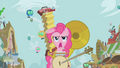 Pinkie Pie attracting parasprites with instruments S1E10.png
