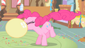 Pinkie Pie blowing a balloon S1 opening.png