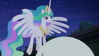 Princess Celestia at top of orrery S4E2
