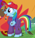 Rainbow Dash mechanic outfit ID S6E14
