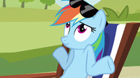 Rainbow Dash shrugs S3E3