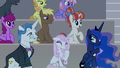 Rainbow Stars heckling the Young Six S8E7.png