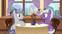 Star Bright and Silver Script having lunch together S7E15