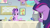 Starlight encouraging Twilight to speak MLPS4