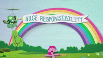"Tank pulling ""Huge Responsibility"" banner BFHHS3"