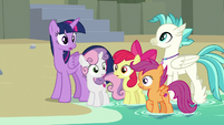 Twilight, Terramar, and CMC hear Sky Beak S8E6