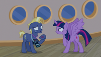 Twilight Sparkle snapping at Star Tracker S7E22