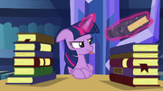 Twilight blowing a raspberry S5E16